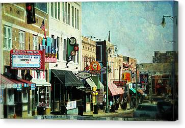 Beale Street Blues Canvas Print by Suzanne Barber