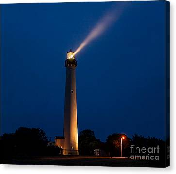 Canvas Print featuring the photograph Beam Of Light At Cape May by Nick Zelinsky