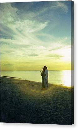 Beaming Love Canvas Print by Jean Haynes