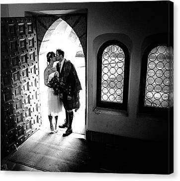 Beaming Newlyweds Canvas Print by Brian Jones