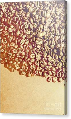 Bean Background With Coffee Space Canvas Print
