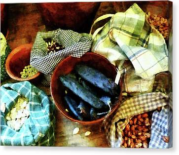 Cook Canvas Print - Beans And Seeds by Susan Savad