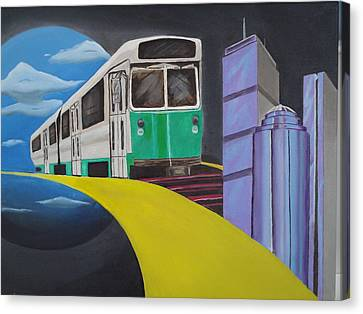 Beantown Transit Canvas Print by Michael Holmes