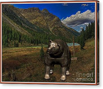 Bear  6 Canvas Print by Pemaro