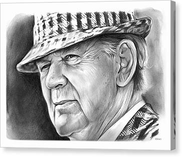 Bear Bryant 2 Canvas Print by Greg Joens