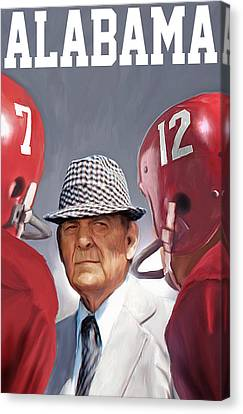 Bear Bryant Canvas Print by Mark Spears