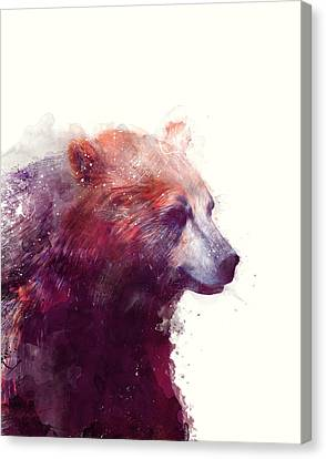 Bear // Calm Canvas Print by Amy Hamilton