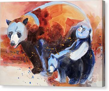 Bear Family Outing Canvas Print by Kathy Braud