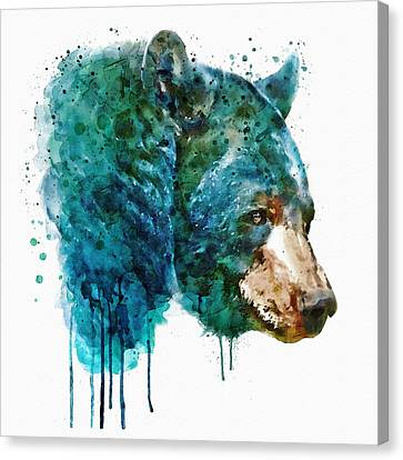 Bear Head Canvas Print by Marian Voicu