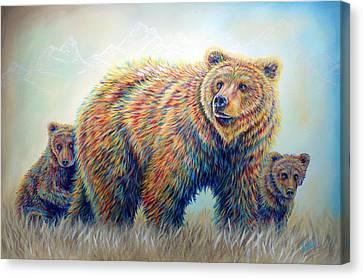 Bear Heaven Canvas Print by Teshia Art