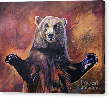 Bear Hugs Canvas Print by J W Baker