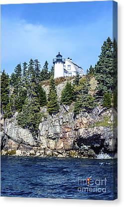 Canvas Print featuring the photograph Bear Island Lighthouse by Anthony Baatz