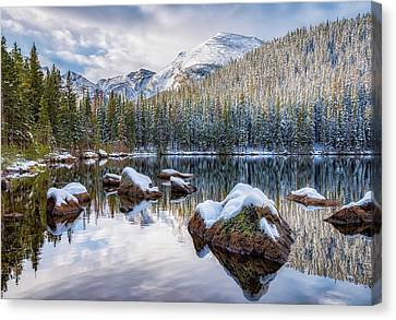Canvas Print featuring the photograph Bear Lake Holiday by Darren White