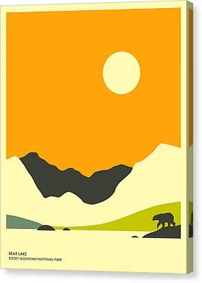 Bear Lake Canvas Print by Jazzberry Blue