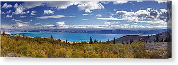Bear Lake Panoramic Canvas Print by Leland D Howard