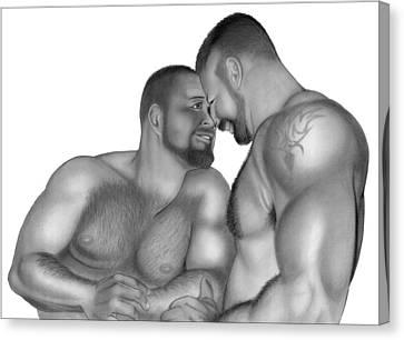 Bear Love 2 Canvas Print by Brent  Marr