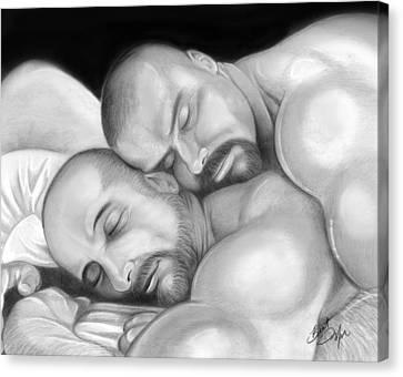 Bear Love 5 Canvas Print by Brent  Marr