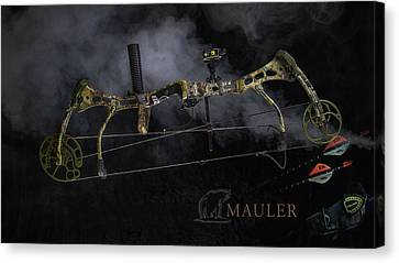 Canvas Print featuring the photograph Bear Mauler by Tim Nichols
