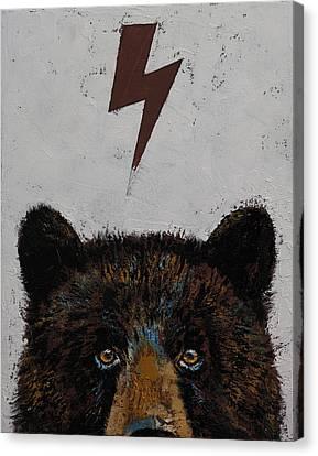 Bear Canvas Print by Michael Creese