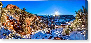 Bear Mountain Winter 1 Canvas Print by ABeautifulSky Photography
