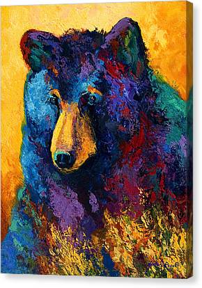 Bear Pause - Black Bear Canvas Print by Marion Rose