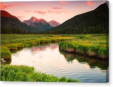 Bear River Sunset Canvas Print by Johnny Adolphson