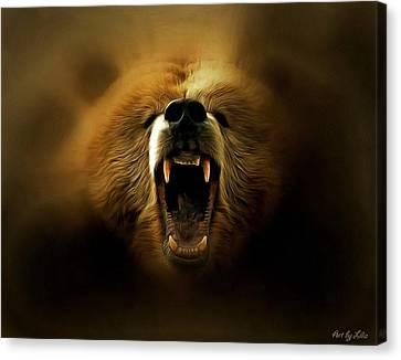 Bear Roar Canvas Print by Lilia D