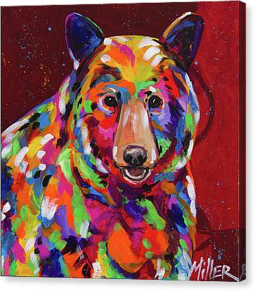 Bear Smile Canvas Print by Tracy Miller