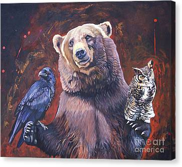 Bear The Arbitrator Canvas Print by J W Baker