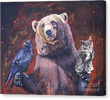 Bear The Arbitrator Canvas Print by J W Baker
