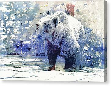 Bear Walk Canvas Print by Jutta Maria Pusl