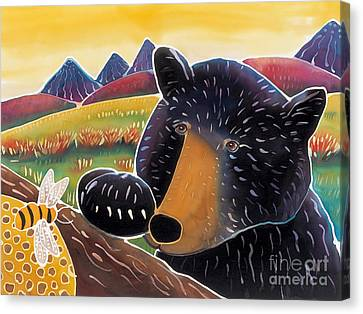 Bear With A Sweet Tooth Canvas Print by Harriet Peck Taylor