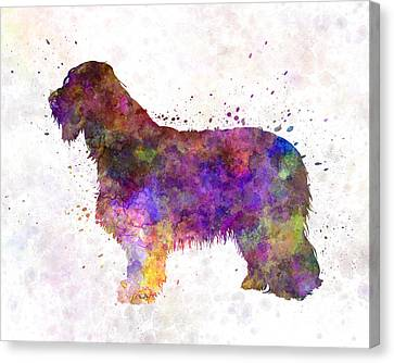 Scottish Dog Canvas Print - Bearded Collie 01 In Watercolor by Pablo Romero