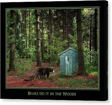 Bears Do It Canvas Print by Judi Quelland
