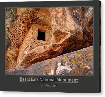 Bears Ears National Monument - Anasazi Ruin Canvas Print by Gary Whitton