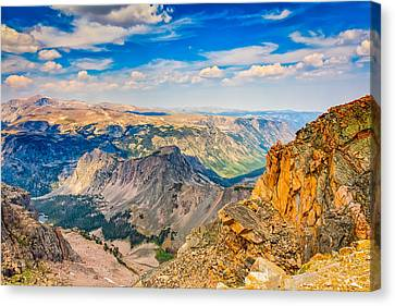 Canvas Print featuring the photograph Beartooth Highway Scenic View by John M Bailey