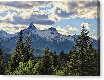 Beartooth Mountains In Spring Canvas Print by Dan Sproul