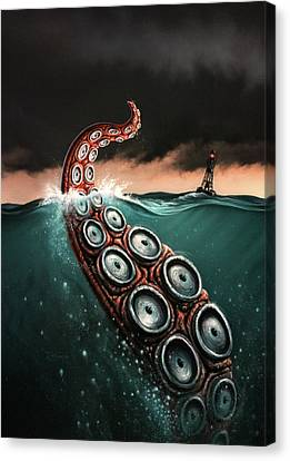Squid Canvas Print - Beast 1 by Jerry LoFaro