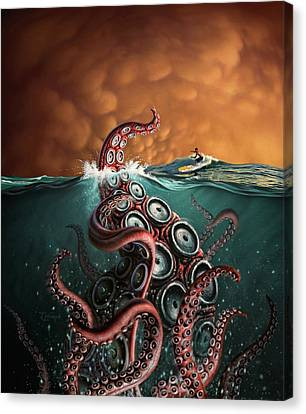 Squid Canvas Print - Beast 3 by Jerry LoFaro