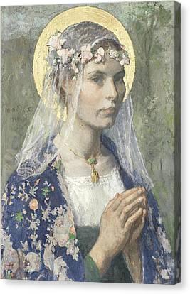 Beate Maria Canvas Print by Gari Melchers