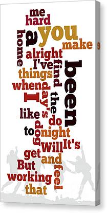 Beatles, Can You Guess The Name Of The Song? A Hard Day's Night Canvas Print by Pablo Franchi
