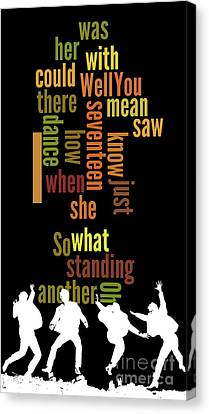 Beatles, Can You Guess The Name Of The Song? Game For Music Fans.i Saw Her Standing There Canvas Print by Pablo Franchi