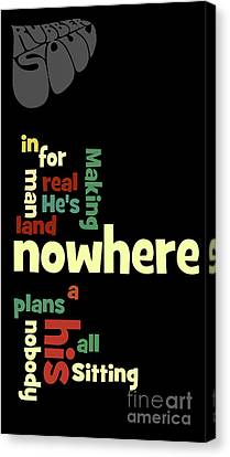 Beatles, Can You Guess The Name Of The Song? Nowhere Man Canvas Print by Pablo Franchi