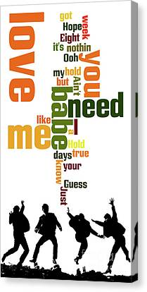 Beatles. Can You Guess The Name Of The Song? Canvas Print by Pablo Franchi