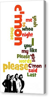 Beatles, Can You Guess The Name Of The Song? Please Please Me Canvas Print by Pablo Franchi