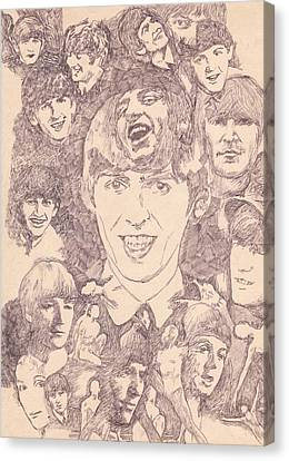 Beatles Collage Dance Canvas Print