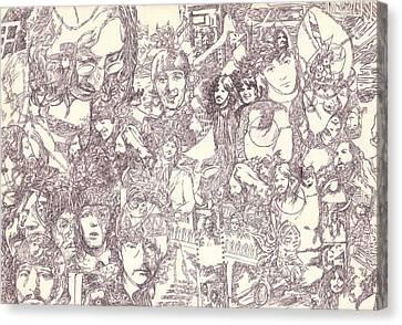 Beatles Collage Canvas Print