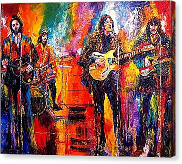 Beatles Last Concert On The Roof Canvas Print by Leland Castro