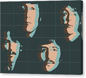 Abbey Road Canvas Print - Beatles Pop Art Tiles by Dan Sproul