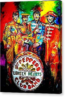 Beatles Sgt. Pepper Canvas Print by Leland Castro